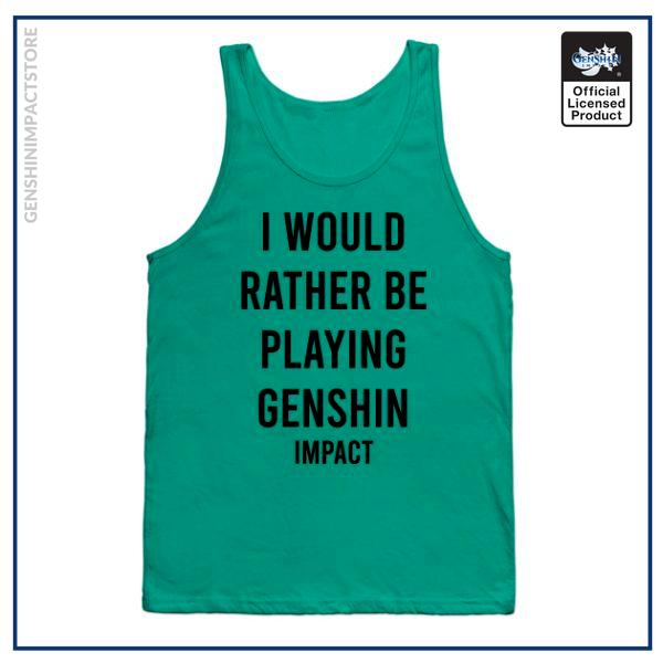I would rather be playing Genshin shirt sticker gift