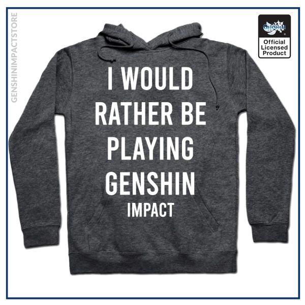 I would rather be playing Genshin Impact shirt sticker gift