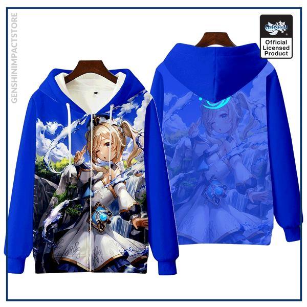 Anime Genshin Impact Keqing Fischl Hooded Hoodie Sweatshirt Coat Loose Autumn New Men Women Student Harajuku 1 - Genshin Impact Store