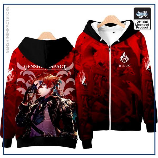 Anime Genshin Impact Keqing Fischl Hooded Hoodie Sweatshirt Coat Loose Autumn New Men Women Student Harajuku 3 - Genshin Impact Store