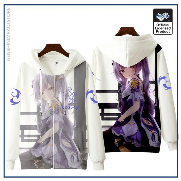 Anime Genshin Impact Keqing Fischl Hooded Hoodie Sweatshirt Coat Loose Autumn New Men Women Student Harajuku 4 - Genshin Impact Store