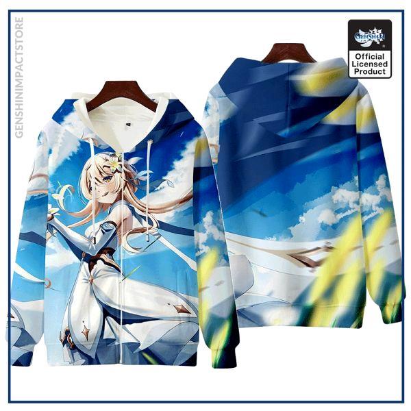 Anime Genshin Impact Keqing Fischl Hooded Hoodie Sweatshirt Coat Loose Autumn New Men Women Student Harajuku 5 - Genshin Impact Store