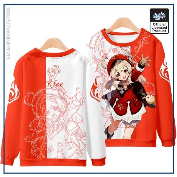 Anime Genshin Impact Klee Mondstadt Fashion Loose Hooded Hoodie Coat Men Women Student Harajuku Jacket Pullover 1 - Genshin Impact Store