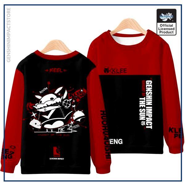 Anime Genshin Impact Klee Mondstadt Fashion Loose Hooded Hoodie Coat Men Women Student Harajuku Jacket Pullover 5 - Genshin Impact Store