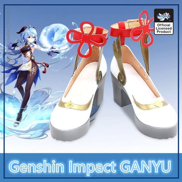 GANYU Cosplay Shoes New Game Genshin Impact Cosplay Props Anime Lolita Women s Shoes Boots Custom - Genshin Impact Store