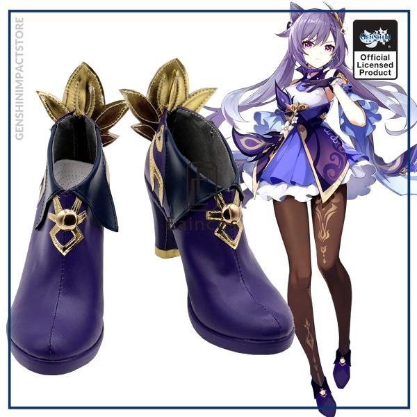 Game Genshin Impact Keqing Cosplay Halloween Carnival Party Shoes Short Fancy Boots Custom made - Genshin Impact Store