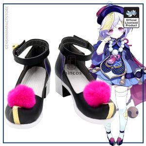 Game Genshin Impact Qiqi Cosplay Halloween Carnival Party Shoes Custom made - Genshin Impact Store