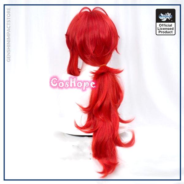 Genshin Impact Diluc Cosplay 60cm Long Red Wig Cosplay Anime Cosplay Wigs Heat Resistant Synthetic Wigs 4 - Genshin Impact Store
