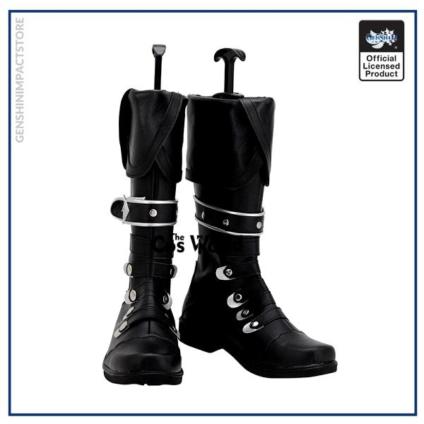 Genshin Impact Diluc Ragnvindr Games Customize Cosplay Low Heel Shoes Boots 1 - Genshin Impact Store