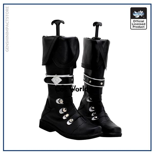 Genshin Impact Diluc Ragnvindr Games Customize Cosplay Low Heel Shoes Boots 2 - Genshin Impact Store