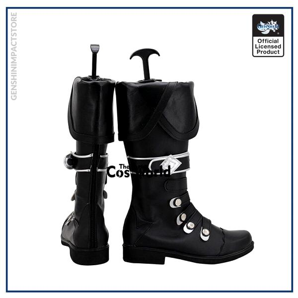 Genshin Impact Diluc Ragnvindr Games Customize Cosplay Low Heel Shoes Boots 3 - Genshin Impact Store