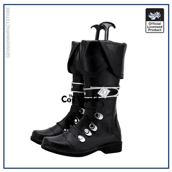 Genshin Impact Diluc Ragnvindr Games Customize Cosplay Low Heel Shoes Boots 4 - Genshin Impact Store
