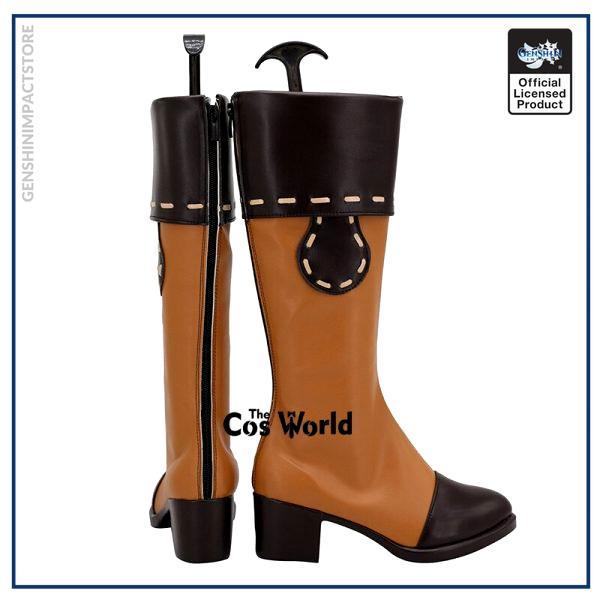 Genshin Impact Klee Games Customize Cosplay Low Heel Shoes Boots 3 - Genshin Impact Store