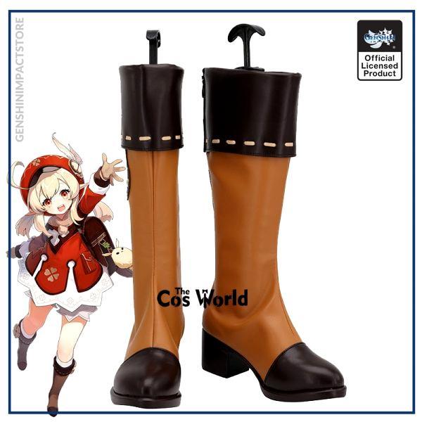 Genshin Impact Klee Games Customize Cosplay Low Heel Shoes Boots - Genshin Impact Store