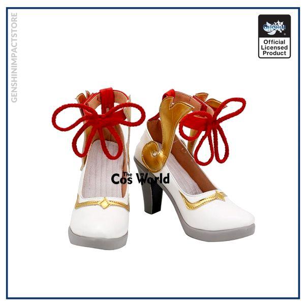 Genshin Impact Liyue Harbor Ganyu Games Customize Cosplay High Heels Shoes 1 - Genshin Impact Store