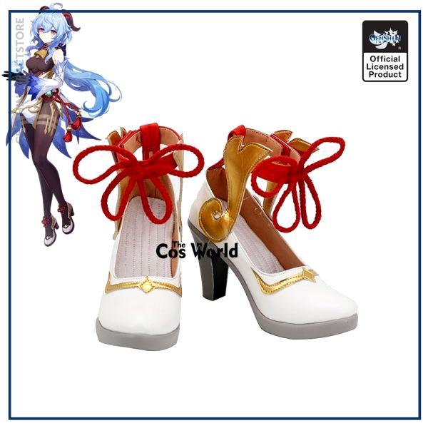Genshin Impact Liyue Harbor Ganyu Games Customize Cosplay High Heels Shoes - Genshin Impact Store