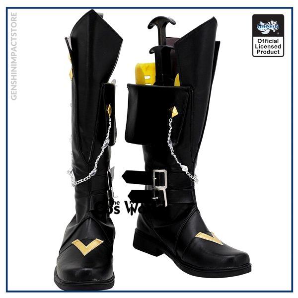 Genshin Impact Liyue Harbor Tartaglia Games Customize Cosplay Low Heels Shoes Boots 1 - Genshin Impact Store