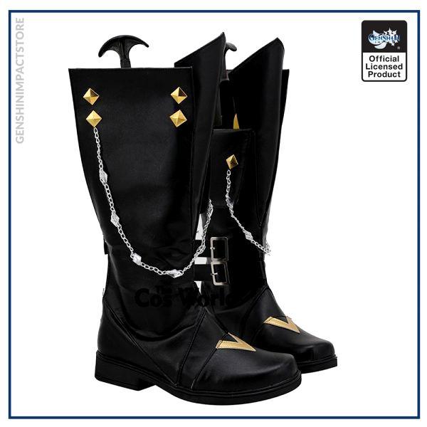 Genshin Impact Liyue Harbor Tartaglia Games Customize Cosplay Low Heels Shoes Boots 2 - Genshin Impact Store