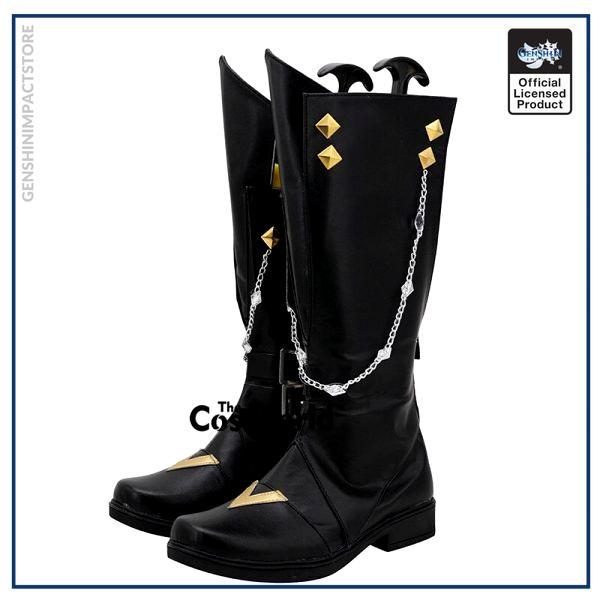 Genshin Impact Liyue Harbor Tartaglia Games Customize Cosplay Low Heels Shoes Boots 3 - Genshin Impact Store