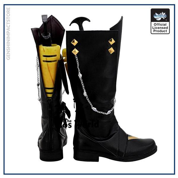 Genshin Impact Liyue Harbor Tartaglia Games Customize Cosplay Low Heels Shoes Boots 4 - Genshin Impact Store