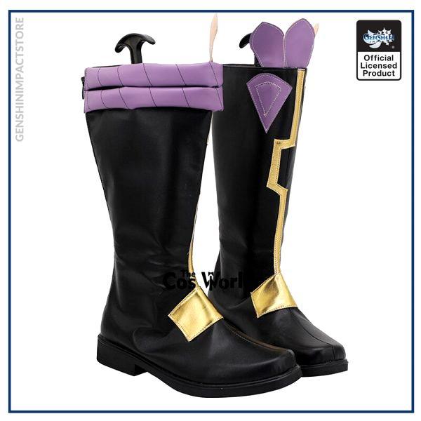 Genshin Impact Liyue Harbor Xiao Games Customize Cosplay Low Heels Shoes Boots 3 - Genshin Impact Store
