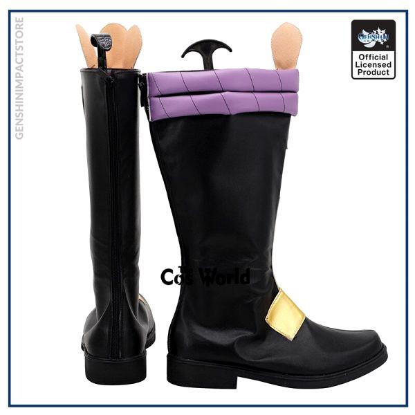 Genshin Impact Liyue Harbor Xiao Games Customize Cosplay Low Heels Shoes Boots 4 - Genshin Impact Store