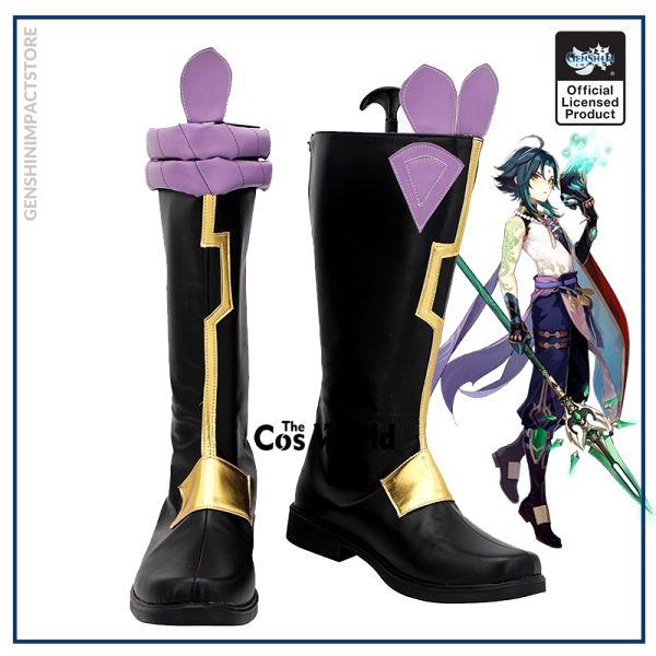 Genshin Impact Liyue Harbor Xiao Games Customize Cosplay Low Heels Shoes Boots - Genshin Impact Store