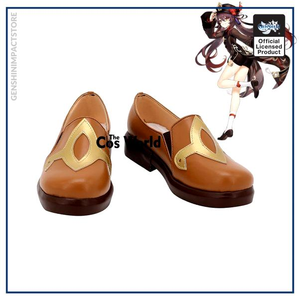 Genshin Impact Liyue Hu Tao Walnut Games Customize Anime Cosplay Low Heel Shoes - Genshin Impact Store