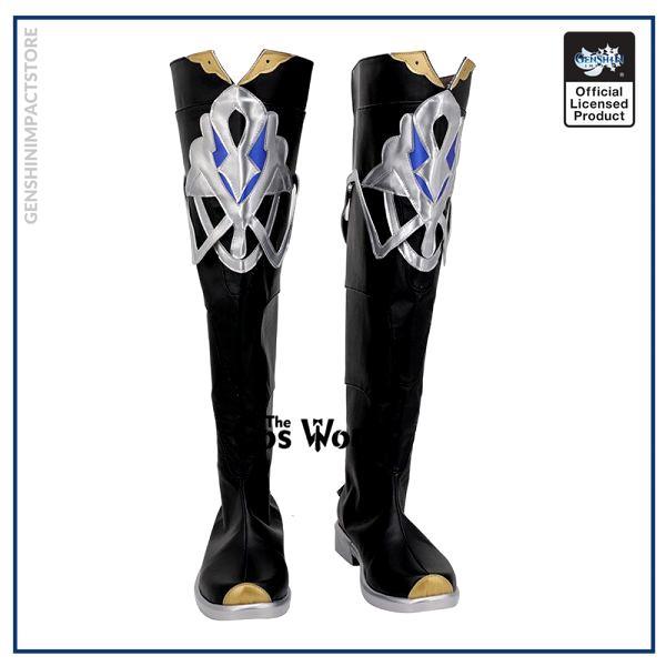 Genshin Impact Mondstadt Albedo Games Customize Cosplay Low Heel Shoes Boots 1 - Genshin Impact Store
