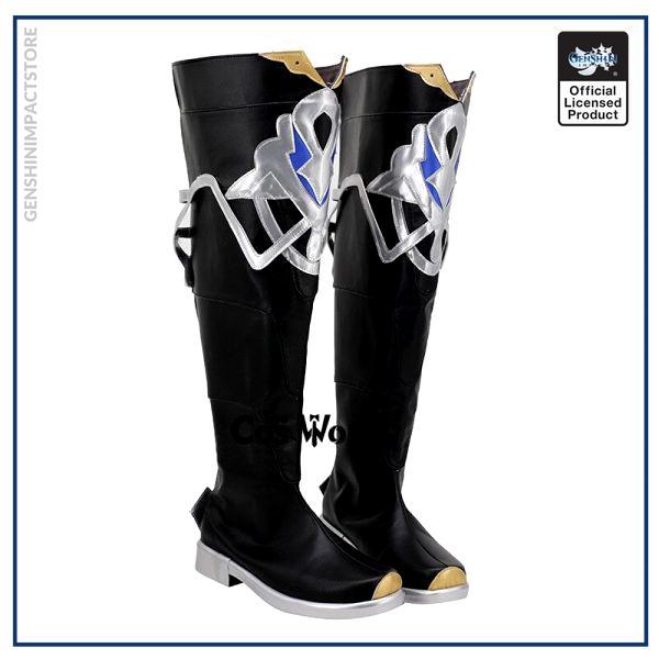 Genshin Impact Mondstadt Albedo Games Customize Cosplay Low Heel Shoes Boots 2 - Genshin Impact Store