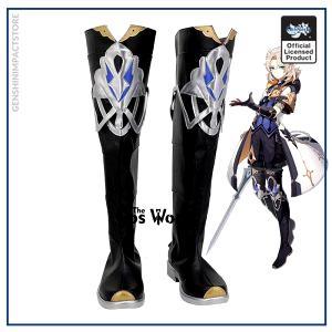 Genshin Impact Mondstadt Albedo Games Customize Cosplay Low Heel Shoes Boots - Genshin Impact Store