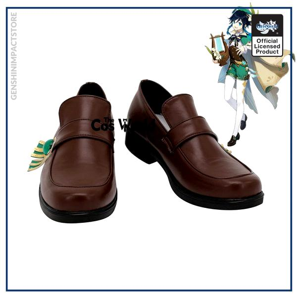Genshin Impact Mondstadt Venti Games Customize Anime Cosplay Low Heel Shoes - Genshin Impact Store