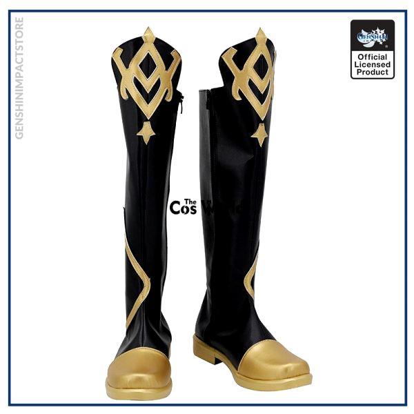 Genshin Impact Traveler Aether Games Customize Cosplay Low Heel Shoes Boots 1 - Genshin Impact Store