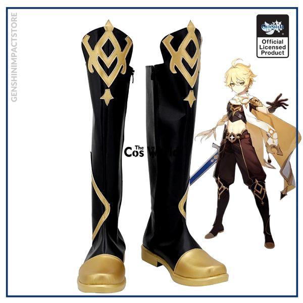 Genshin Impact Traveler Aether Games Customize Cosplay Low Heel Shoes Boots - Genshin Impact Store