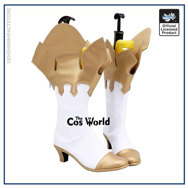Genshin Impact Traveler Paimon Games Customize Cosplay High Heels Shoes Boots 3 - Genshin Impact Store