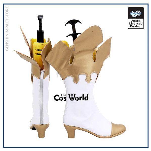 Genshin Impact Traveler Paimon Games Customize Cosplay High Heels Shoes Boots 4 - Genshin Impact Store