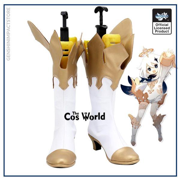 Genshin Impact Traveler Paimon Games Customize Cosplay High Heels Shoes Boots - Genshin Impact Store