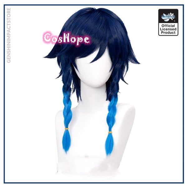 Genshin Impact Venti Cosplay Unisex 50cm Blue Wig Cosplay Anime Cosplay Braid Wigs Heat Resistant Synthetic 1 - Genshin Impact Store