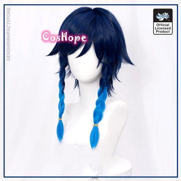 Genshin Impact Venti Cosplay Unisex 50cm Blue Wig Cosplay Anime Cosplay Braid Wigs Heat Resistant Synthetic 2 - Genshin Impact Store