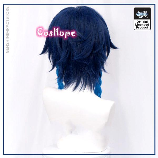 Genshin Impact Venti Cosplay Unisex 50cm Blue Wig Cosplay Anime Cosplay Braid Wigs Heat Resistant Synthetic 3 - Genshin Impact Store