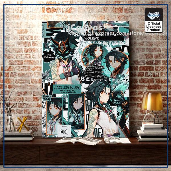 Genshin Impact Xiao Collage Canvas Home Decor Painting Wall Art Decoration Prints Dorm Living Room Bedroom - Genshin Impact Store