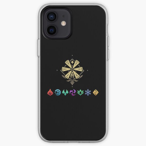 Genshin impact elements impact iPhone Soft Case RB1109 product Offical Genshin Impact Merch
