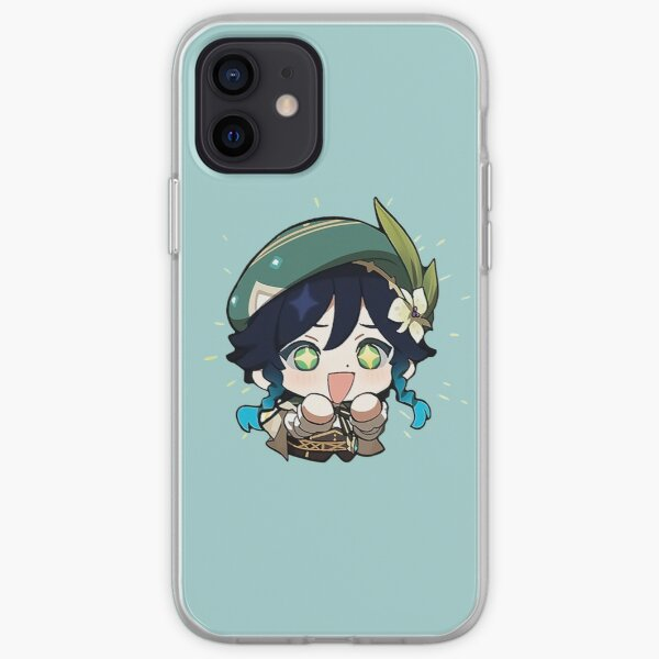"""Venti   Genshin Impact Sticker """"Excited"""" iPhone Soft Case RB1109 product Offical Genshin Impact Merch"""