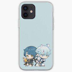 Chibi Xingqiu & Chongyun - Genshin Impact iPhone Soft Case RB1109 product Offical Genshin Impact Merch