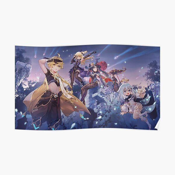 Genshin Impact - Unreturned Star Event With Mona And Fischl Official Artwork Poster RB1109 product Offical Genshin Impact Merch