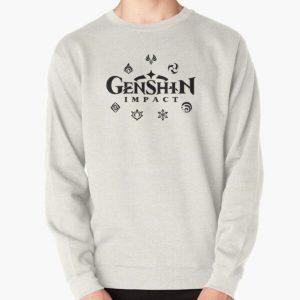 Genshin Impact Elements (Black) Pullover Sweatshirt RB1109 product Offical Genshin Impact Merch