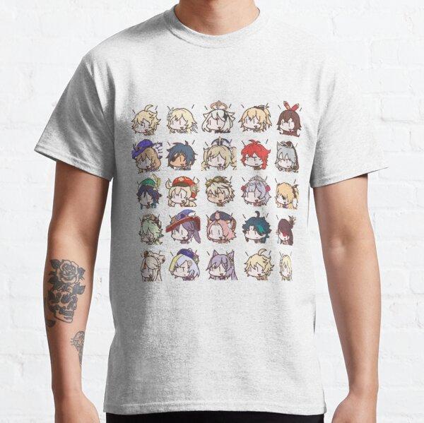 Genshin Impact Kawaii Chibi Nerdy Characters  Classic T-Shirt RB1109 product Offical Genshin Impact Merch