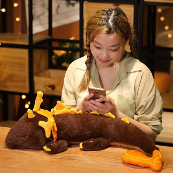 Game Genshin Impact Morax Dragon Plush Doll Pillows 68CM Anime Cosplay Costume Props Accessories Cartoon Bolster 2 - Genshin Impact Store